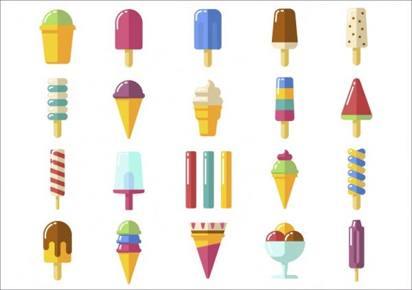Free Vector Ice Cream Icons