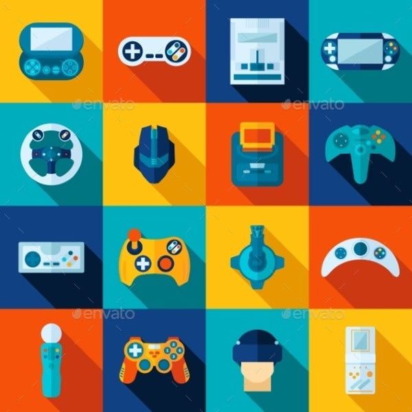 video gaming icons