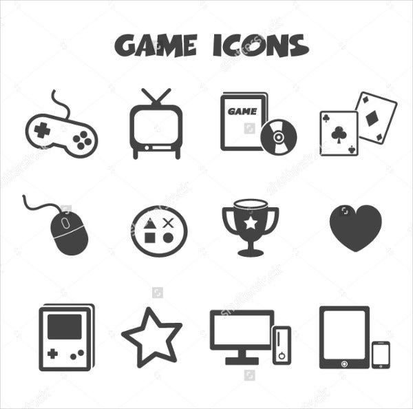 vector gaming icons