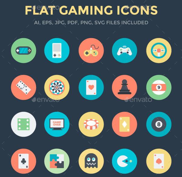 Flat Gaming Icons