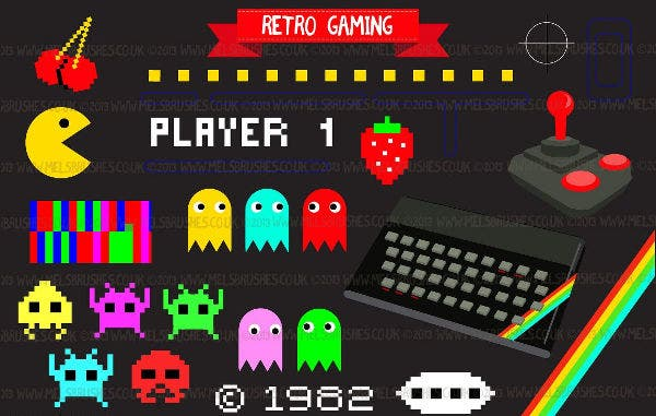 retro gaming icons