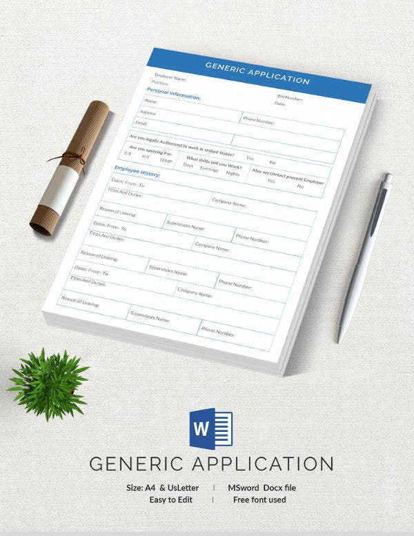 Generic Application Template