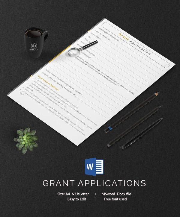 Grant Application Template