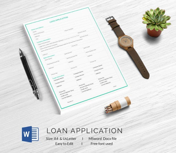 Loan Application Template