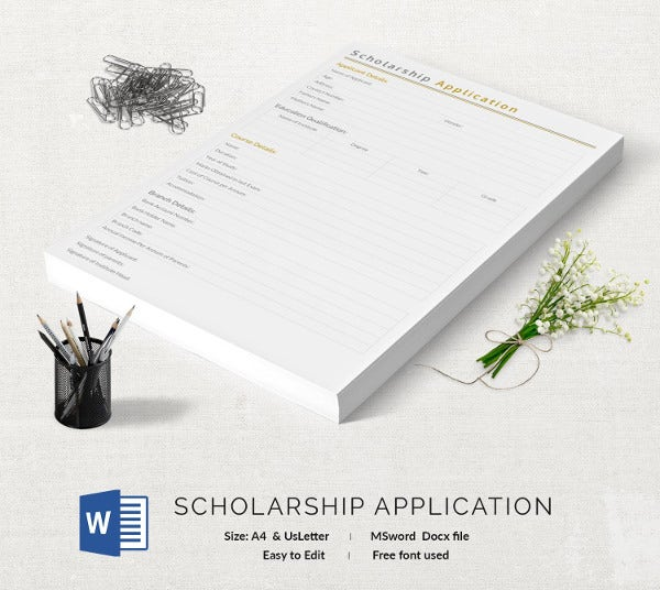 Scholarship Application Template