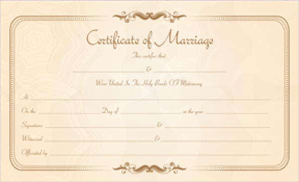 17 printable marriage certificate free amp premium templates