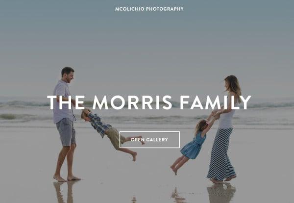 photographer gallery website