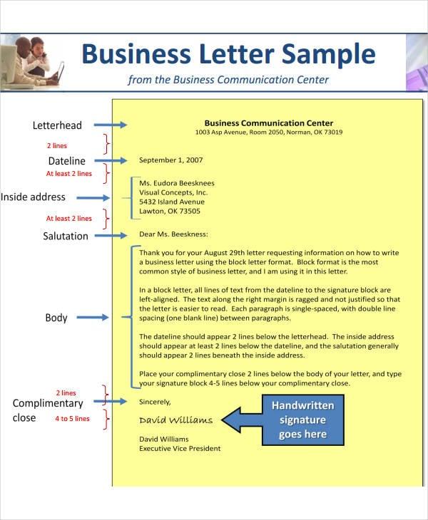 personal business letterhead format