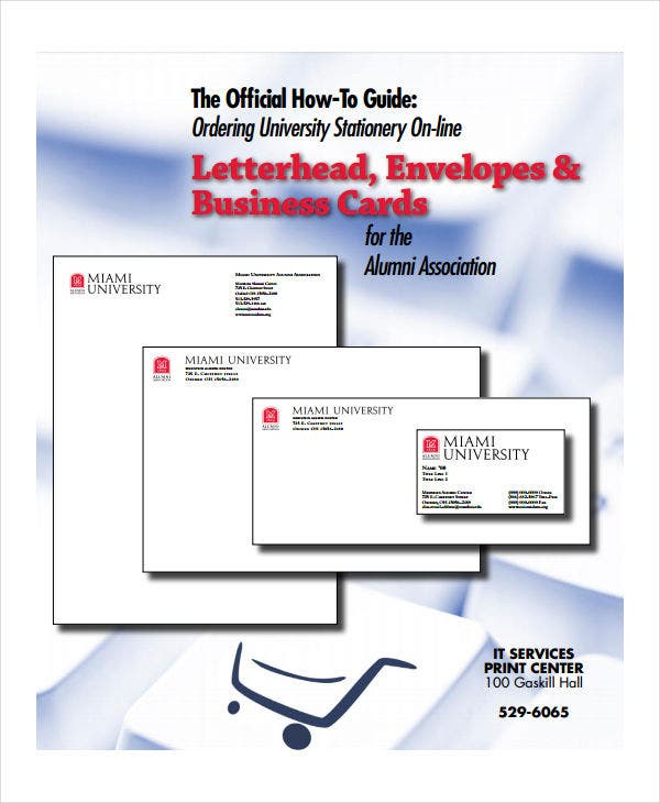 custom business letterhead format