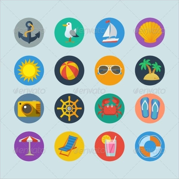 summer-holiday-icons