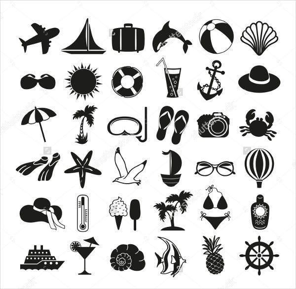 vector holiday icons