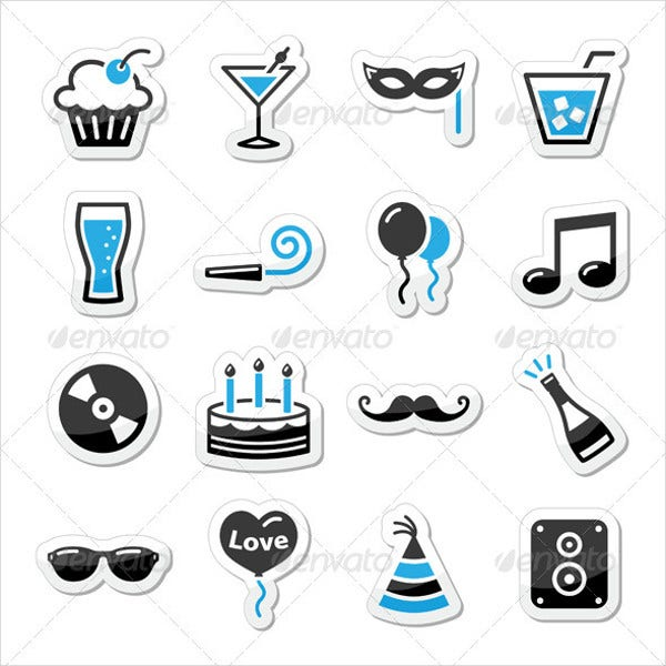 holiday party icons