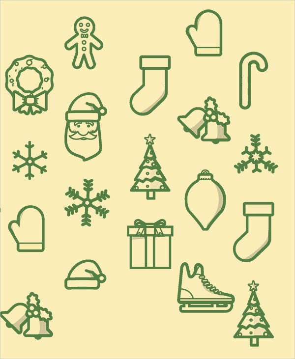 Holiday Greeting Icons