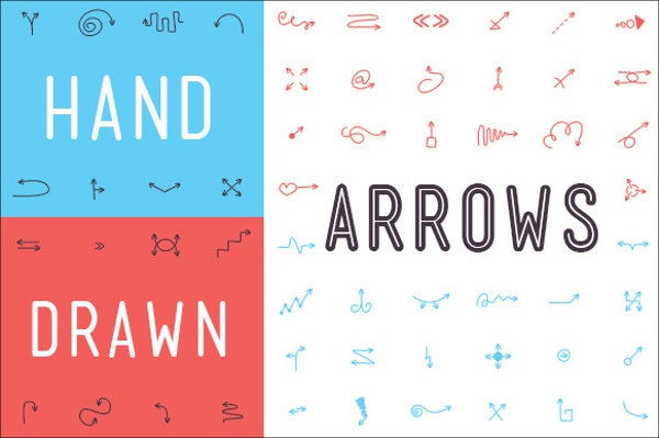 Handdrawn Arrow Font