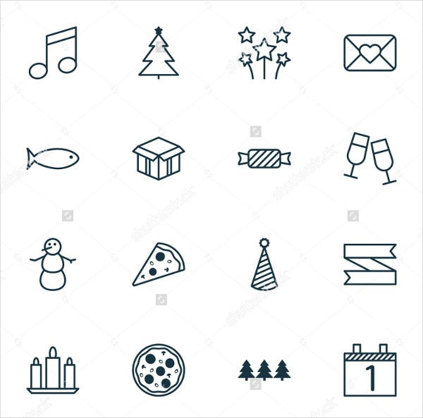 Happy Holiday Icons