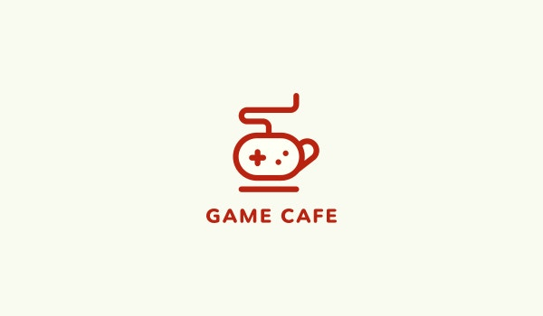 game cafe logo design