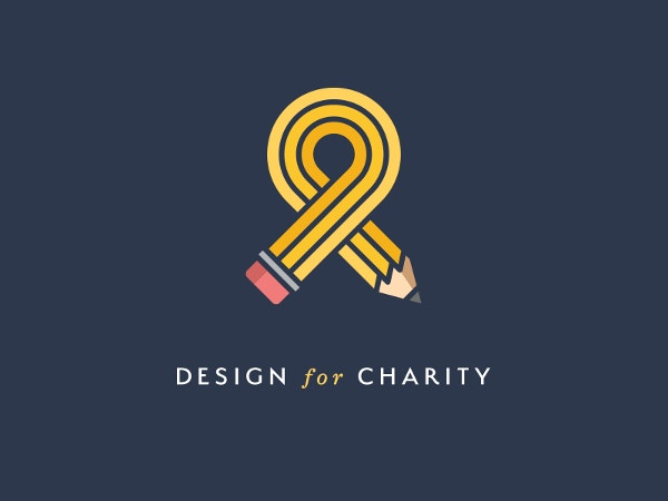 line art charity logo design