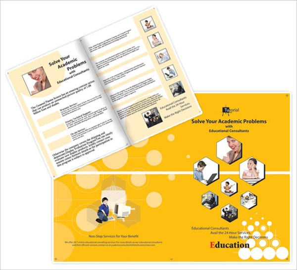 Consultant brochures 9 free psd vector ai eps format for Educational brochure templates