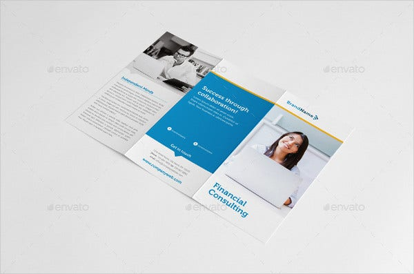 financial consultant brochure