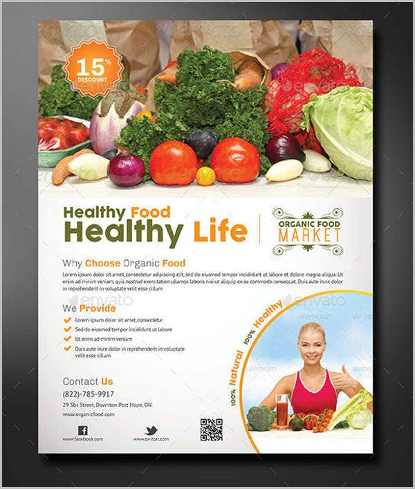 organic food store flyer