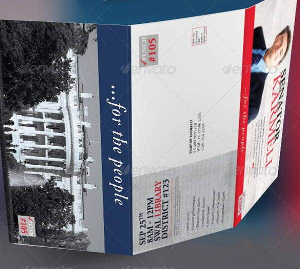 Political Brochures  Printable Psd Ai Indesign Vector Eps