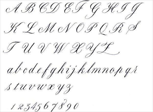 handwriting fancy cursive letters