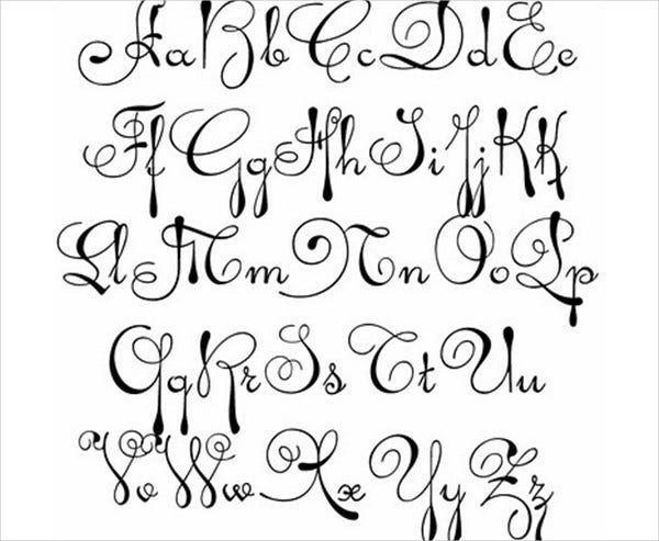 Similiar Fancy Cursive Alphabet Keywords