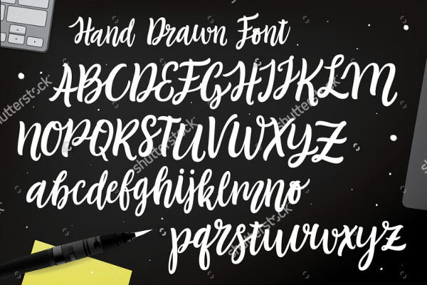 Fancy cursive letters free premium templates