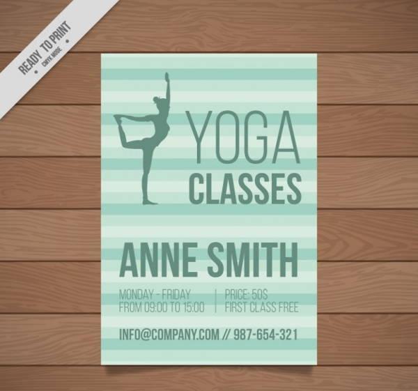 yoga class brochure
