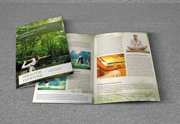 yoga bifold brochure
