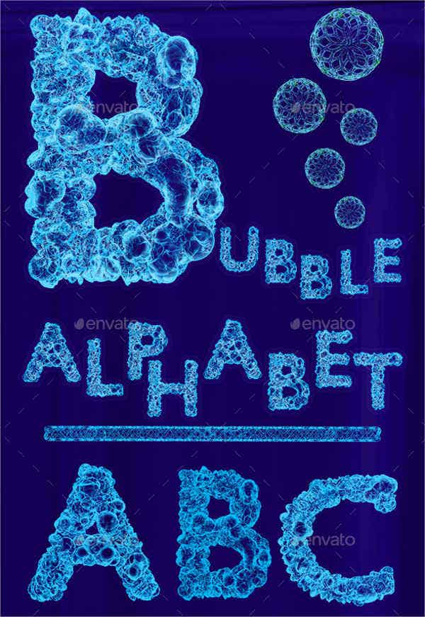 Bubble Alphabet Letters
