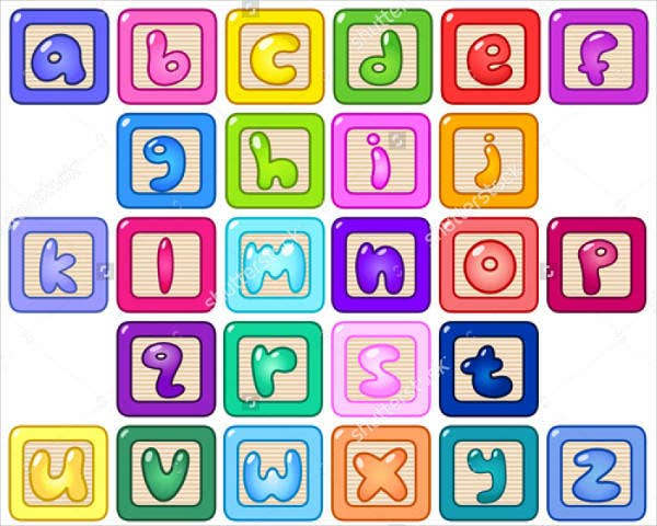 Bubble Block Letters