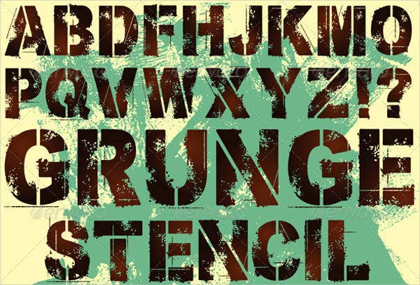 Vecotr Stencil Letters
