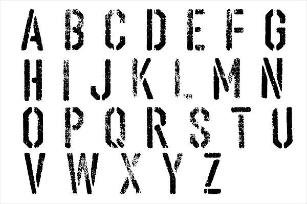 Grunge Textures Set of Stencils