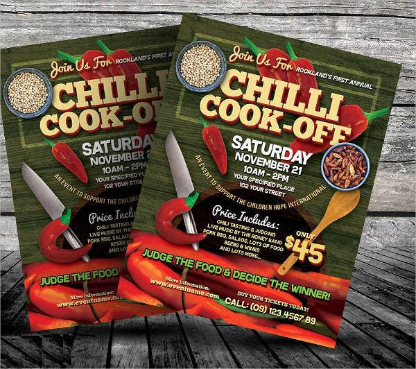 15  cooking flyers