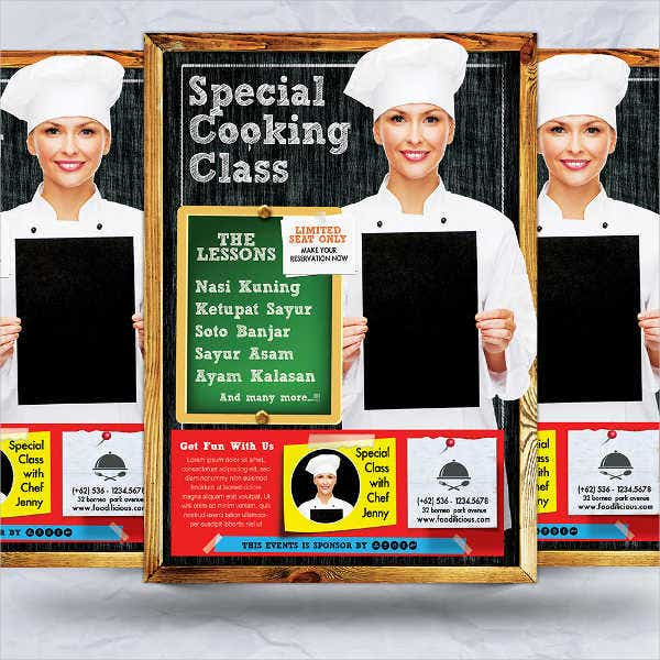 cooking classes flyer