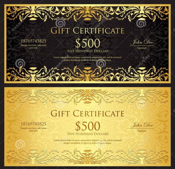 7 gift certificate templates free printable psd vector