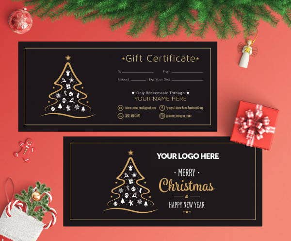 holiday gift certificate template