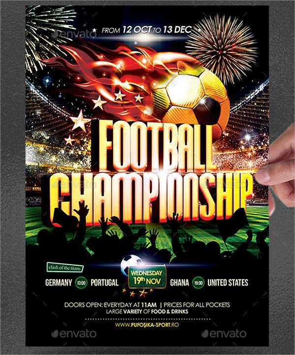 football champion flyer