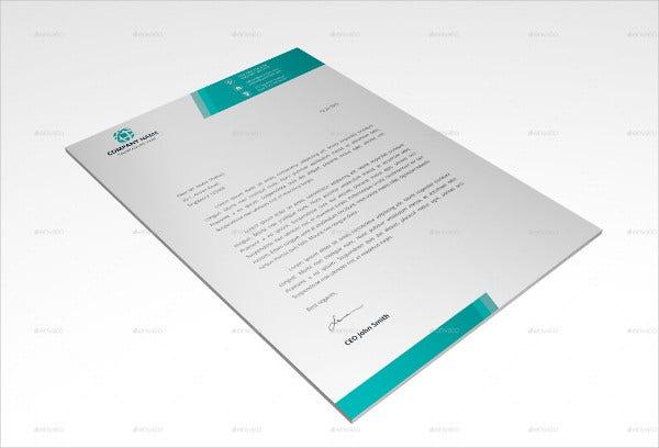 Company Letterhead Designs  Free Sample Example Format