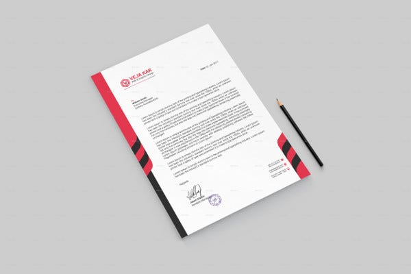Company Stationary Letterhead Design