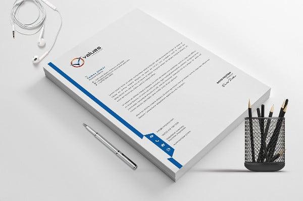 Company Letterhead Design Presentation