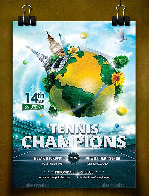 Tennis Champion Flyer