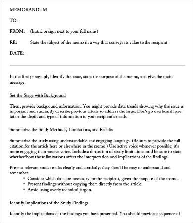 business analysis memo template