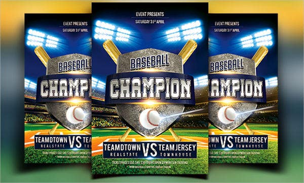 16  baseball flyer templates