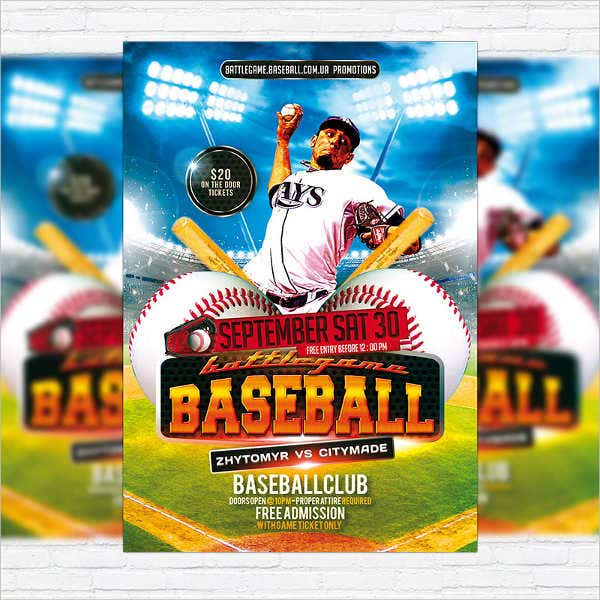 Baseball Flyers   Free Psd Vector Ai Eps Format Download