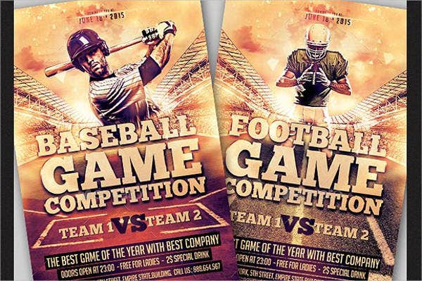 Football and Baseball Flyer