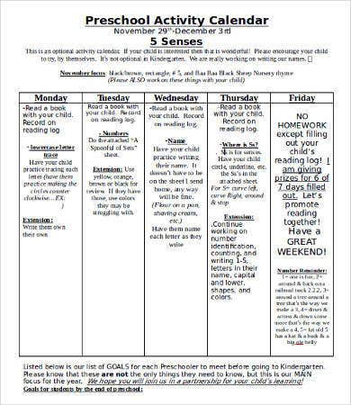 Homework Calendar Template - 9+ Free Word, Pdf Documents Download