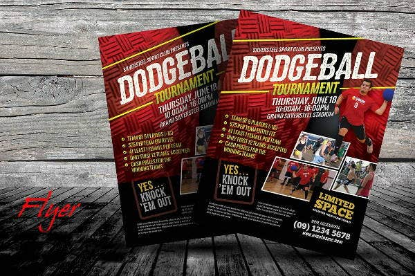 Dodge Ball Tournament Flyer