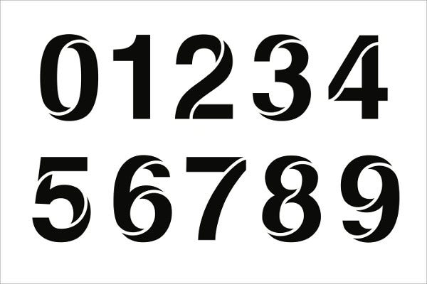 number stencils sample format premium templates